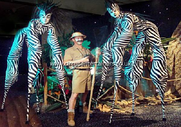Zebra Stilt Walkers